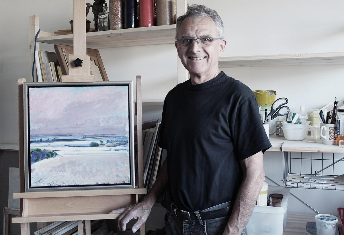 Cuno Sørensen i sit atelier i Egå
