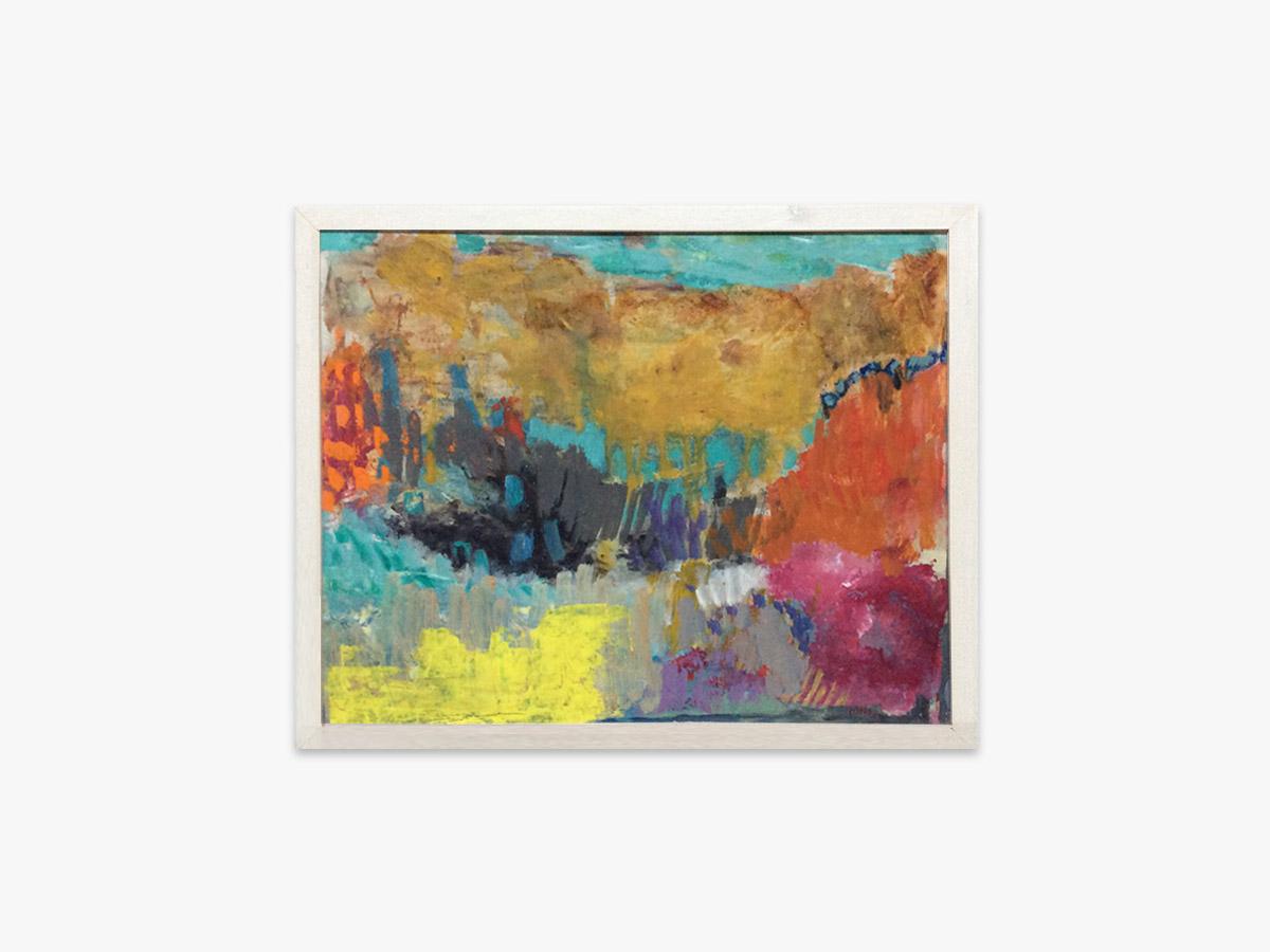 Abstrakt maleri årstider - Cuno Sørensen