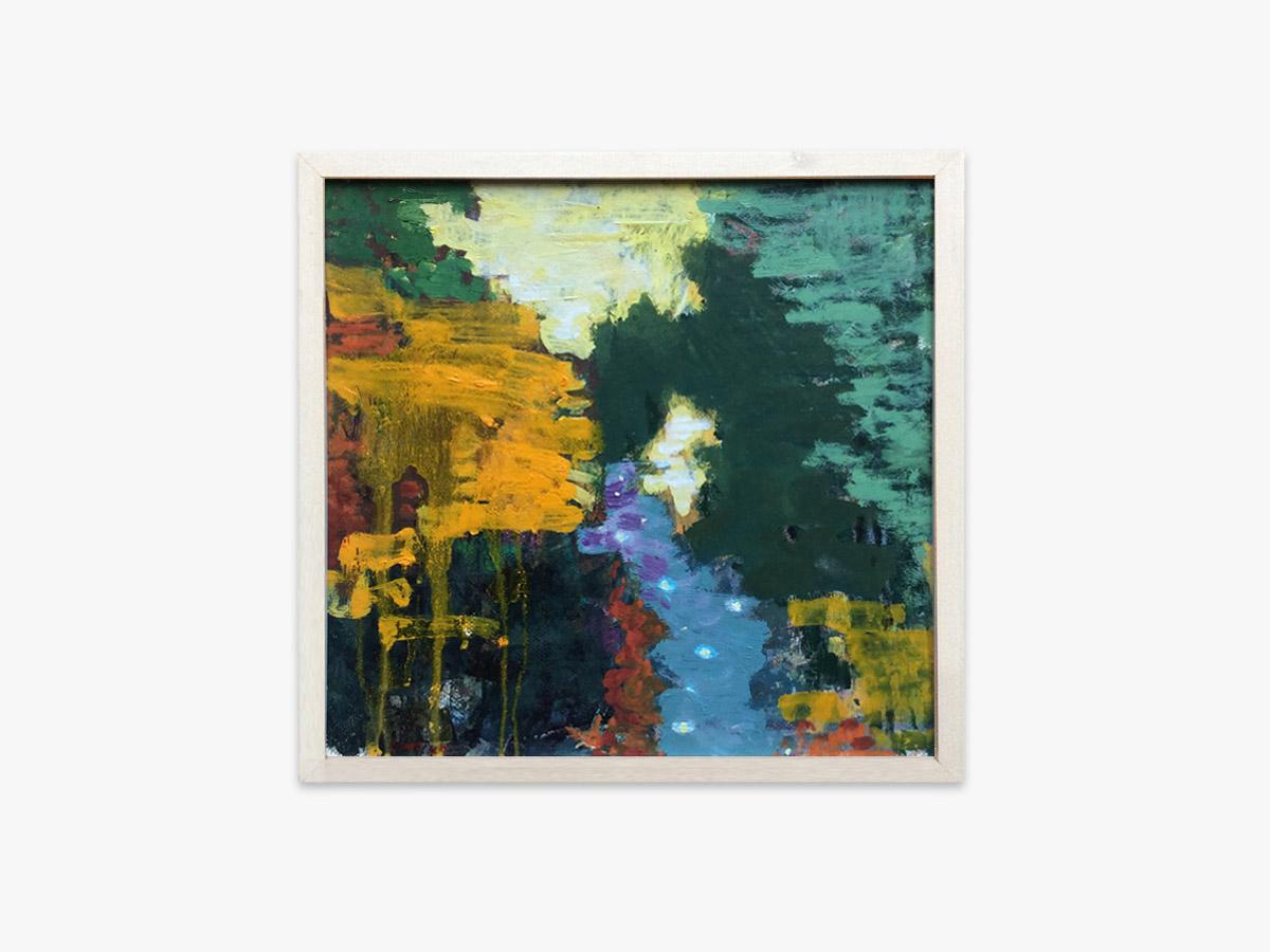 Abstrakt maleri lysglimt - Cuno Sørensen