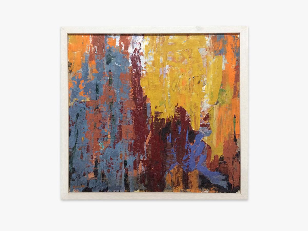 Abstrakt maleri efterår - Cuno Sørensen