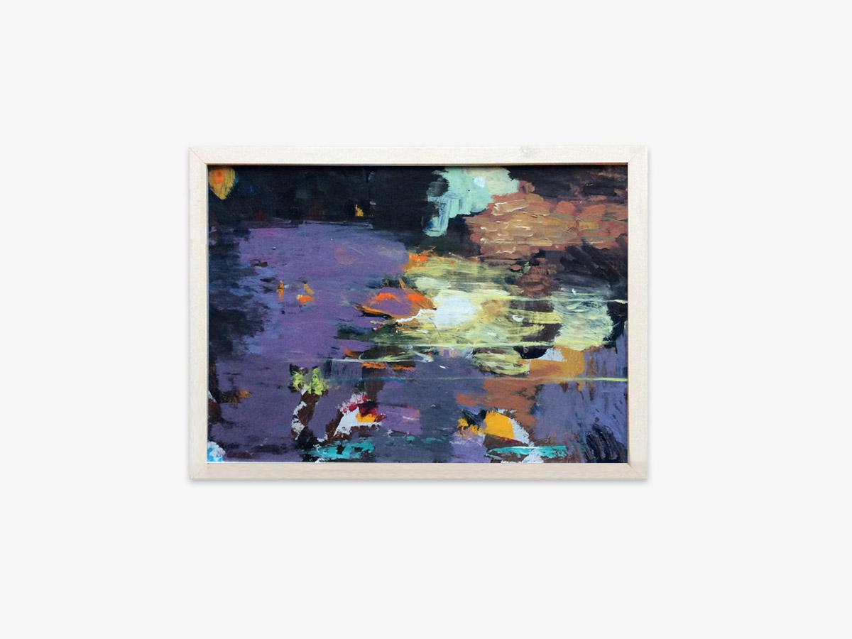 Abstrakt maleri spejlning - Cuno Sørensen