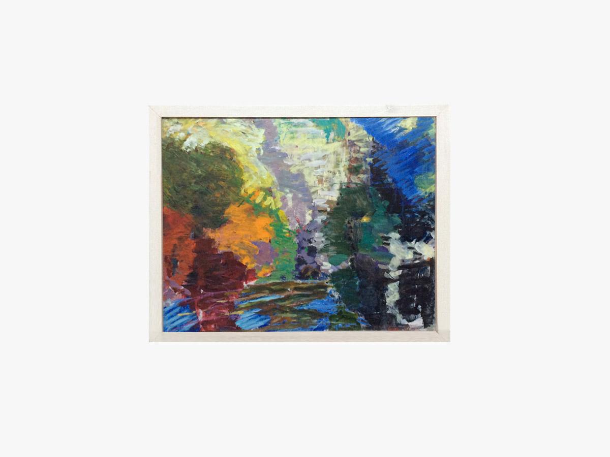 Abstrakt maleri bækken - Cuno Sørensen