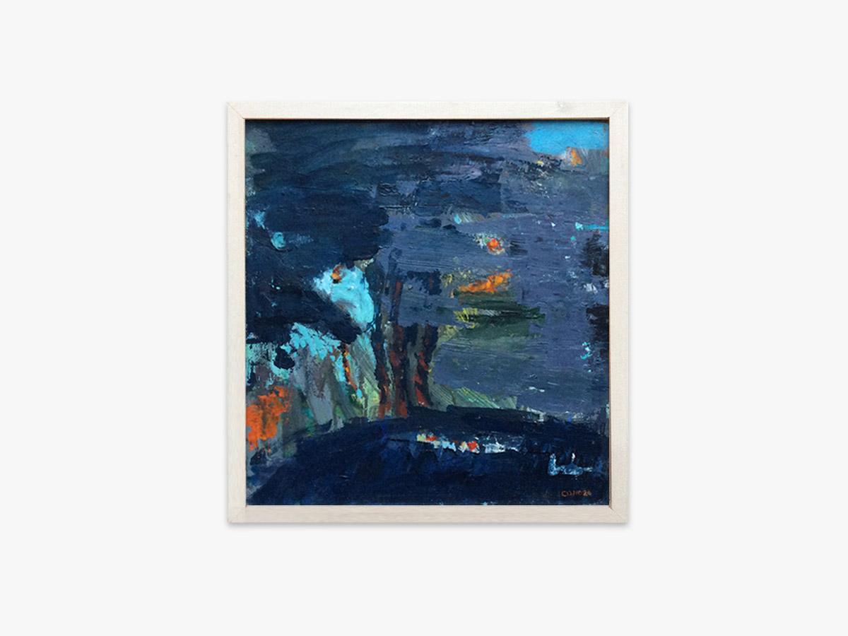Abstrakt maleri tusmørke - Cuno Sørensen